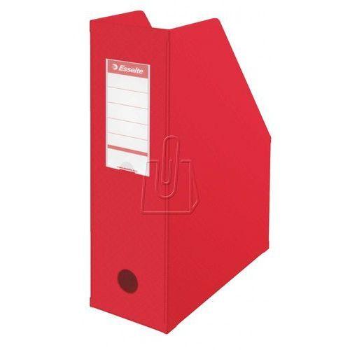 Esselte Pojemnik na dokumenty, czasopisma A4 składany PCV 100mm czerwone (10K215B) Darmowy odbiór w 19 miastach!