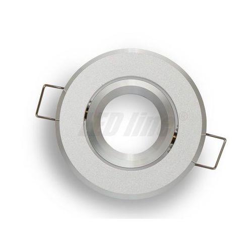 Led line Oprawa halogenowa sufitowa okrągła ruchoma, aluminium, mr11 - srebrna piaskowana (5901583245121)