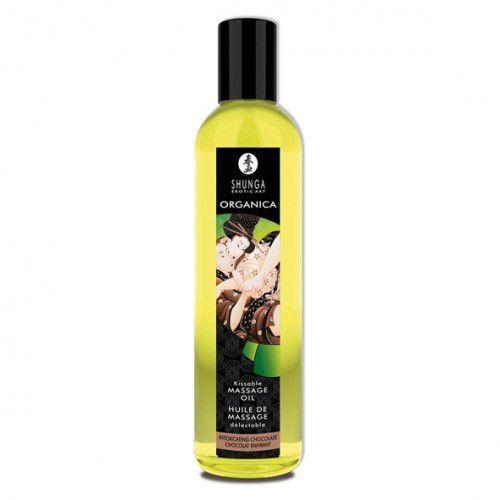 Olejek do masażu organiczny - Shunga Massage Oil Organic Chocolat Czekolada z kategorii Olejki do masażu
