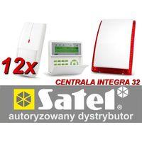 Zestaw alarmowy integra 32, klawiatura lcd, 12 czujników ruchu, sygnalizator zewnętrzny sp-4003 marki Satel