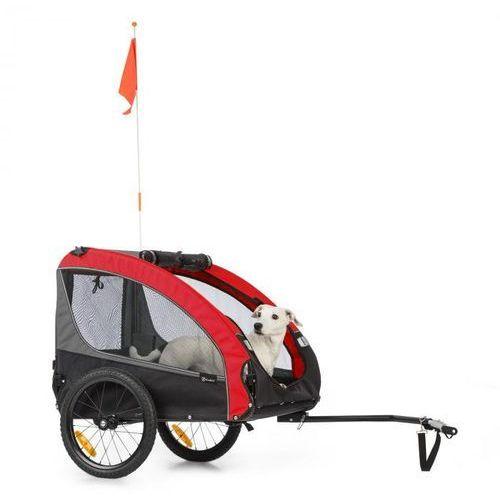 husky race, przyczepka rowerowa do przewozu psów, 282 l, 40 kg, płótno oxford 600d, czerwona marki Klarfit