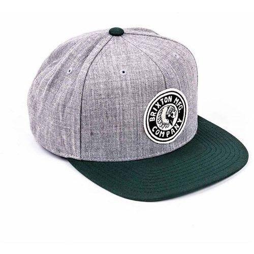 czapka z daszkiem BRIXTON - Rival Light Heather Grey/Chive (LTHGV) rozmiar: OS, kolor szary