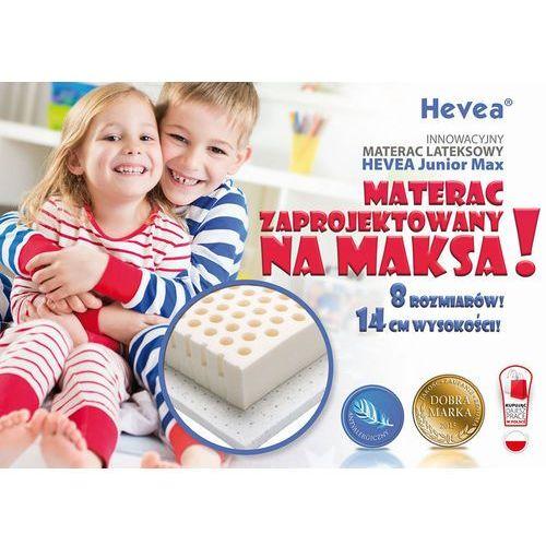Hevea Materac lateksowy  junior max 160x90 + 2 gratisy czapka z daszkiem i poduszka!!