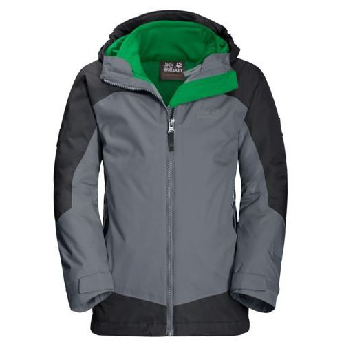 Jack wolfskin Kurtka dziecięca 3w1 akka 3in1 jacket boys - pebble grey
