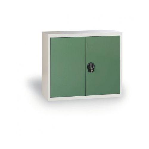 Szafa metalowa, 800x1200x400 mm, 1 półka, szary/zielony marki Alfa 3