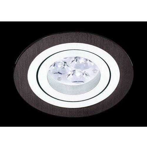 Oczko okrągłe mini catli aluminium szczotkowane czarne gu10, 3053gu marki Bpm lighting