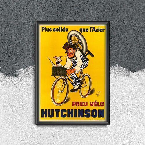 Plakat na ścianę plakat na ścianę pneu velo hutchinson vintage autorstwa mich marki Vintageposteria.pl