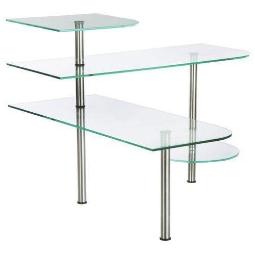 Narożna półka kuchenna - 4 poziomy, szklane półki kuchenne