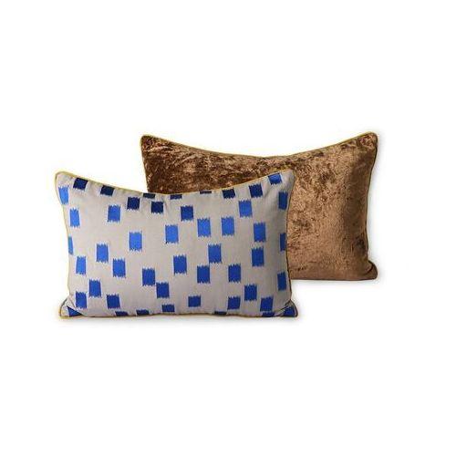 doris for hkliving: szyta poduszka niebieska-szczotkowana (25x40) tku2134 marki Hkliving