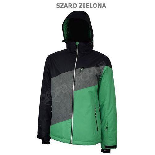 Męska kurtka narciarska outhorn toz16 kums601 szaro/zielona xl marki 4f