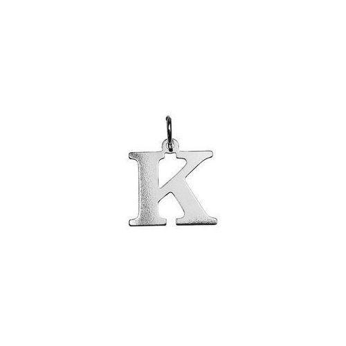 Zawieszka litera K srebro próba 925 BL K