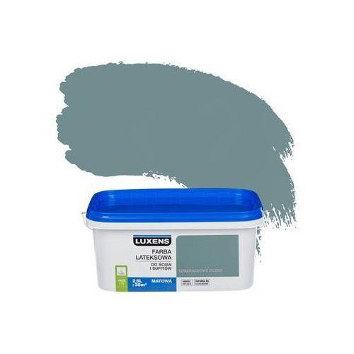 Farba wewnętrzna do ścian i sufitów EMULSJA 2.5 l Szmaragdowe oczko LUXENS, kolor zielony