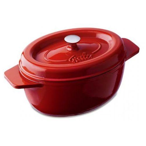 arcana brytfanna żeliwna owalna 28cm czerwona marki Fissler