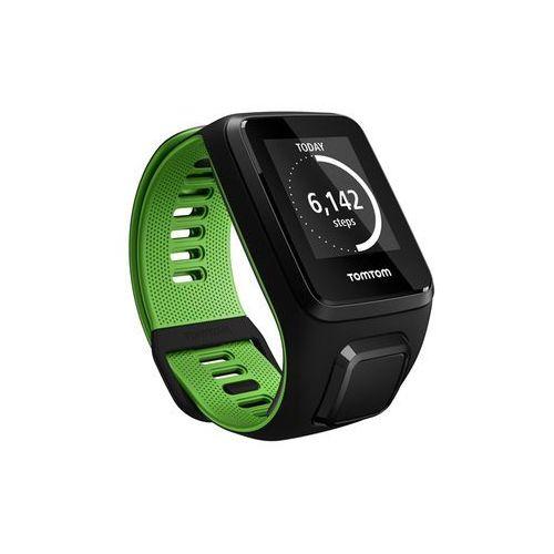 TomTom Runner 3 Cardio - zegarek sportowy z GPS i czujnikiem tętna (czarny/zielony)