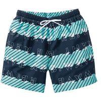 Długie szorty plażowe Regular Fit bonprix niebieski wzorzysty, poliester