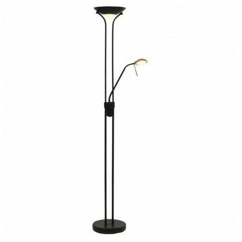 Czarna lampa podłogowa z funkcją przyciemniania - ex05-notra marki Lumes