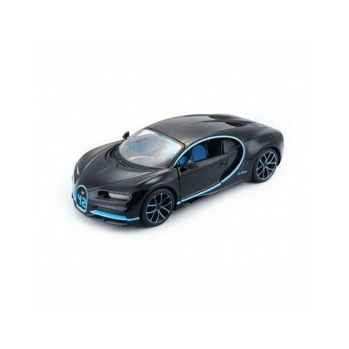 Model metalowy Bugatti Chiron czarno-niebieski