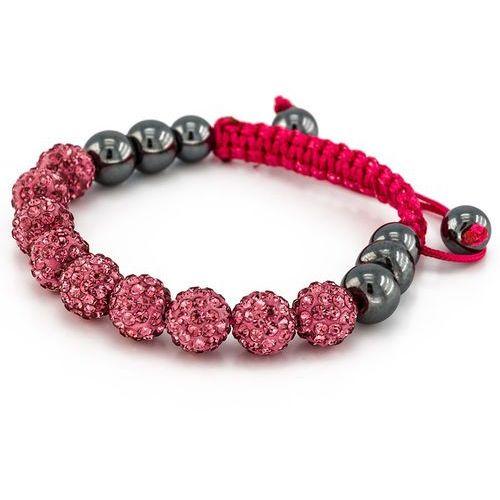 Cloe Bransoletka shamballa exclusive diamonds rose - rose