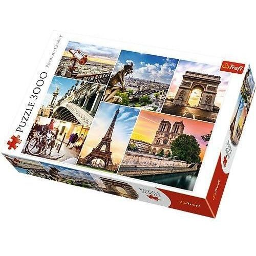 Puzzle Magia Paryża - kolaż 3000