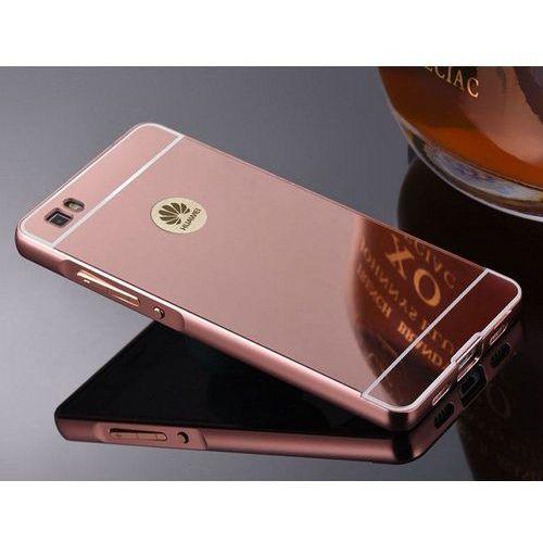 metal case różowy | etui dla huawei p8 lite - różowy marki Mirror bumper