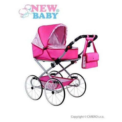 Retro wózek dla lalek 2w1 New Baby Natalia różowy