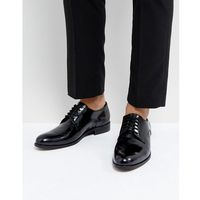 Dune Derby Shoes In Hi Shine Black Leather - Black