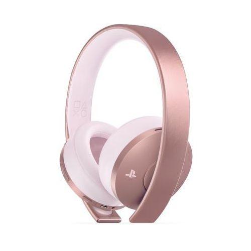 Zestaw słuchawkowy sony playstation rose gold wireless headset różowy marki Sony interactive entertainment