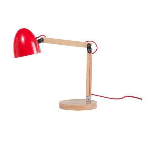 Lampa biurowa czerwona - stołowa - nocna - gabinetowa - VELEKA (4260580922512)