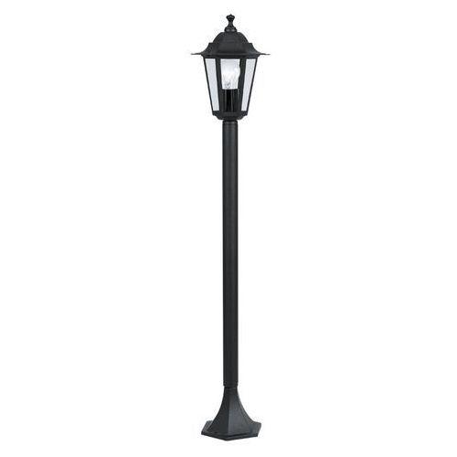 Zewnętrzna LAMPA stojąca LATERNA 4 22144 Eglo klasyczna OPRAWA ogrodowa słupek IP44 outdoor czarny (9002759221447)