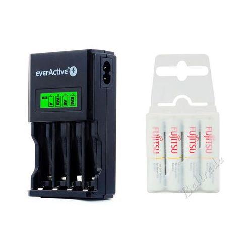 Ładowarka nc-450 black + 4 x akumulatory r03/aaa fujitsu 800mah marki Everactive