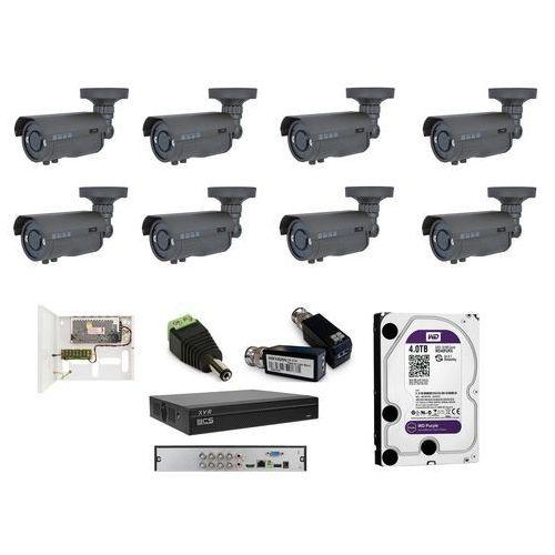 -tqe6200ir3 analogowy zestaw na 8 kamer tubowych bcs 2,8mm-12 mm, ir 40m, 2mpx. idealny do szpitali i instytucji publicznych. marki Bcs