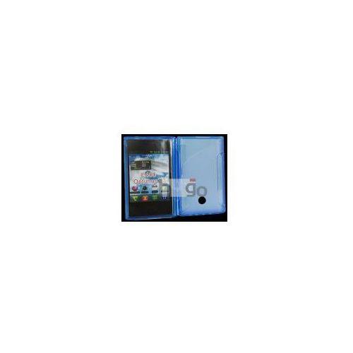 Futerał Back Case S-Line Lg E400 SWIFT L3 NIEBIESKI PRZEŹROCZYSTY, kolor Futerał