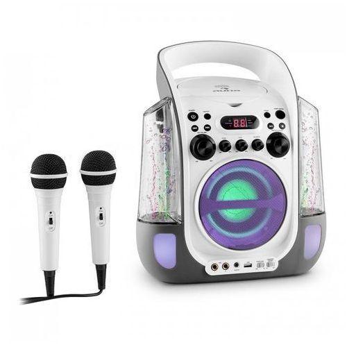 Kara liquida zestaw karaoke cd usb mp3 strumień wodny led 2 x mikrofon mobilny marki Auna