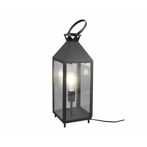 Trio rl farola r50541902 lampa stołowa lampka 1x40w e27 czarna/transparentna