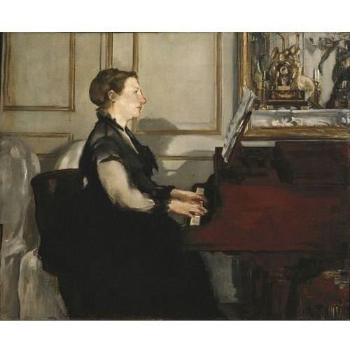 Reprodukcja Madame Manet at the Piano (Madame Manet au piano) 1868 Edouard Manet