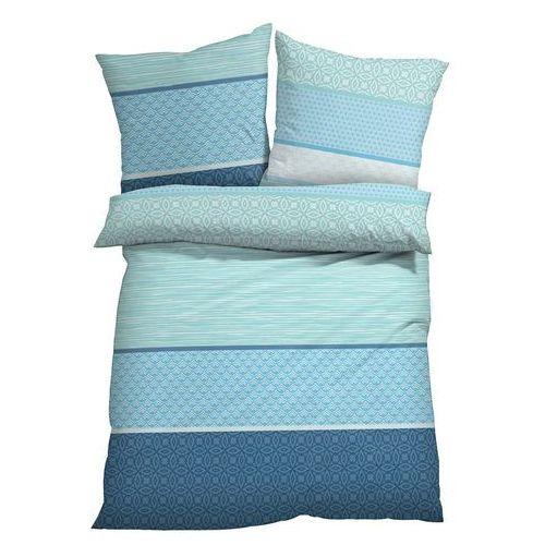 Pościel w paski bonprix jasnoniebiesko-morski, kolor niebieski