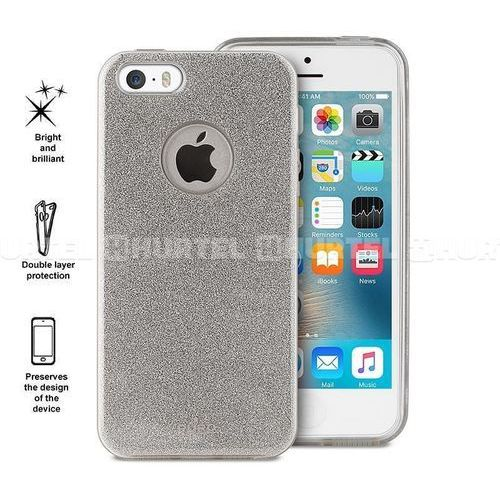Etui  glitter shine cover do iphone 5/5s/se srebrny marki Puro