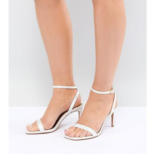 Asos design half time wide fit bridal barely there heeled sandals - cream
