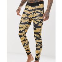 running tights with camo print and quick dry - black marki Asos 4505