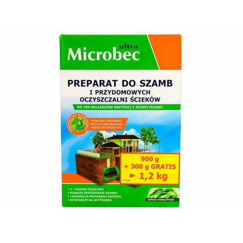 Bakterie do szamba, oczyszczalni Microbec Ultra proszek 1200g eukaliptus. (5904517281363)