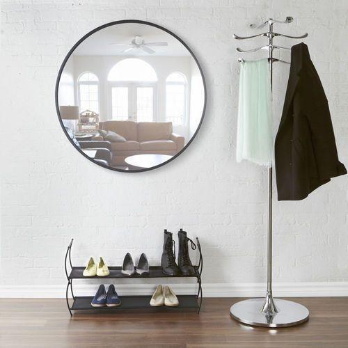Umbra - Lustro okrągłe 36'' - czarne - czarny, kolor czarny