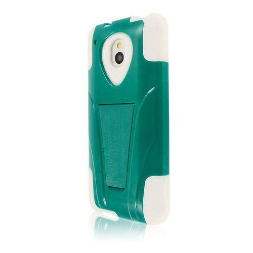 Mpero impact x series kickstand case etui futerał na telefon komórkowy for htc one mini m4 – teal/biały marki Empire