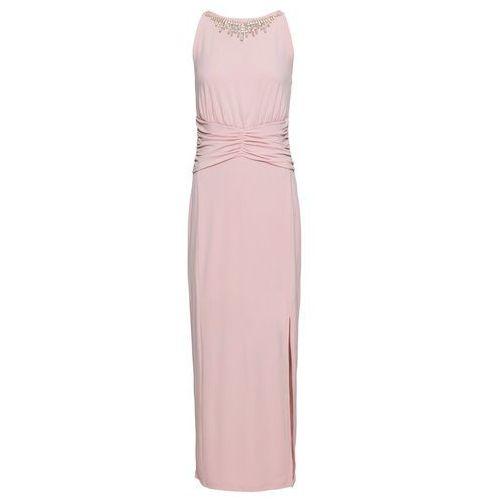 d0c12d5e12 Sukienka wieczorowa z ozdobnym elementem bonprix jasnoróżowy