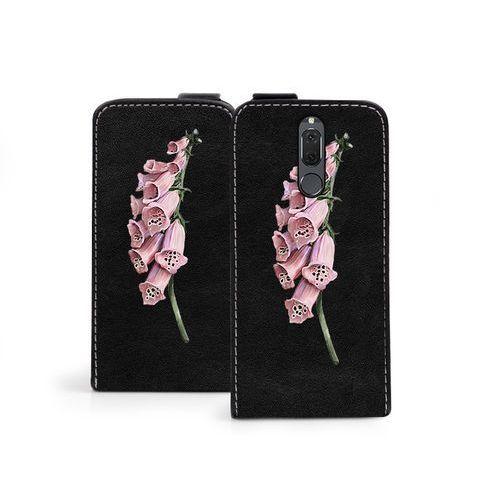 Huawei mate 10 lite - etui na telefon flip fantastic - czerwone kwiaty marki Etuo flip fantastic