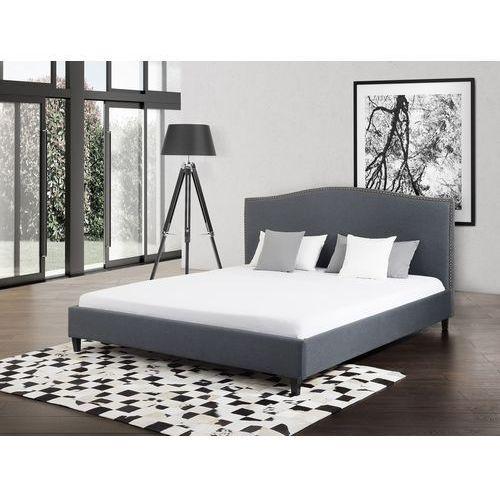 Łóżko szare - 140x200 cm - łóżko tapicerowane - montpellier marki Beliani