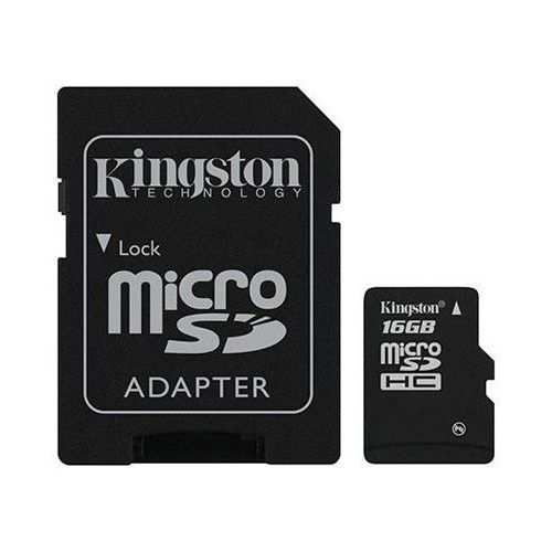 Kingston Karta pamięci microsdhc 16gb + adapter sd