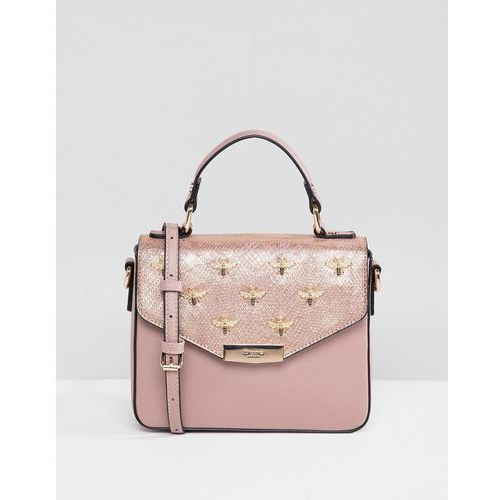 studded bee tote bag - gold marki Dune