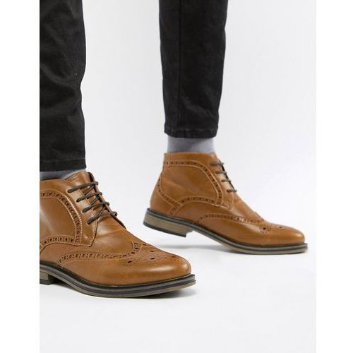 brogue boot - tan, New look