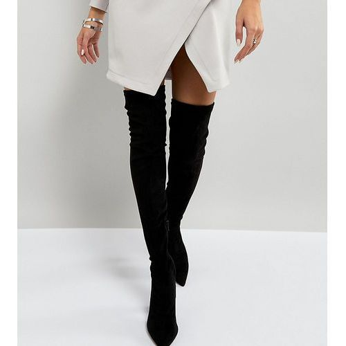 River Island Wide Fit Pointed Over The Knee Boots - Black