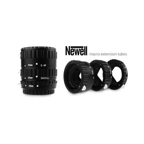 pierścienie pośrednie makro z automatyką - canon eos plastikowe marki Newell